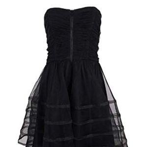 Betsy & Adam Dresses - Black Strapless Homecoming Dress